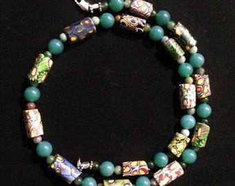 19'' Venetian Millefiori Necklace.