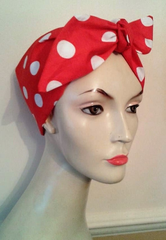 1940s Hair Snoods- Buy, Knit, Crochet or Sew a Snood 1940s 50s tie headband retro vintage rockabilly landgirl new fabric options $6.68 AT vintagedancer.com
