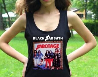 Black Sabbath T Shirt Black Sabbath Shirts Black Sabbath Tank Top Heavy Metal Women Tops Hard Rock Shirts