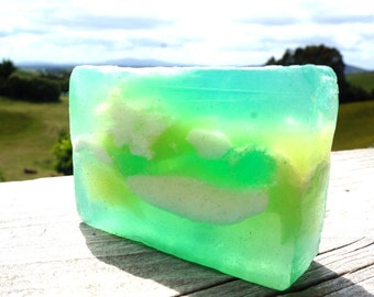 Lime Crime/Handmade Glycerin Soap/Green Lime Soap