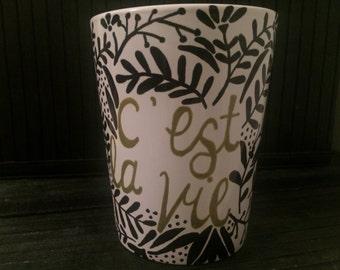 """14 oz """"C'est La Vie"""" Mug"""
