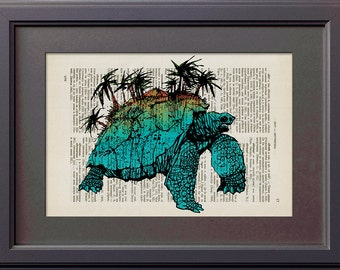 Items Similar To Turtle Island Art Print On Etsy