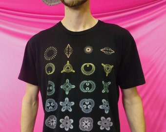 Club Flowers- 100% Ring Spun Cotton Shirt - Single or Double Print - Made in USA
