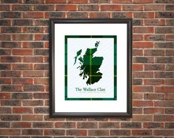 Scotland map,Scottish tartan map, clan tartan, personalized, scottish, Wedding, birthday, anniversary, Christmas, wedding,  house warming