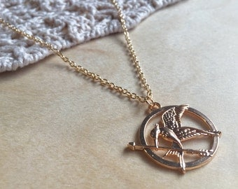 The Hunger Games, Mockingjay Gold Pendant Necklace
