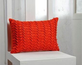 GEO Felt cushion cover - Orange