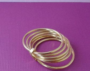 14 kt solid gold Stacking rings /set 6 rings 14kt solid gold /custom hand made  jewelry /14kt solid gold rings
