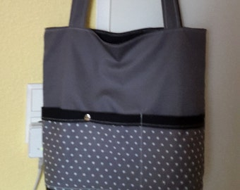 Shoulder bag with stars and long straps 72cm