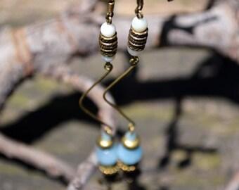Aquamarine stone earring