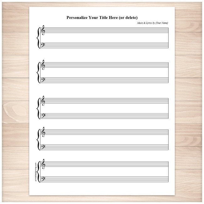piano sheet music pdf blank