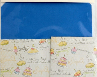 Make your own Notebook Kit bookbinding craft blue