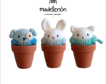"Madelenon- Crochet pattern PDF ""My little pets"""