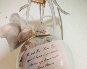 Personalized 25th Anniversary Ornament