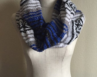 Blue Mexican Blanket Infinity Scarf