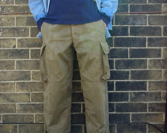 Vintage French Military Army Combat Trousers