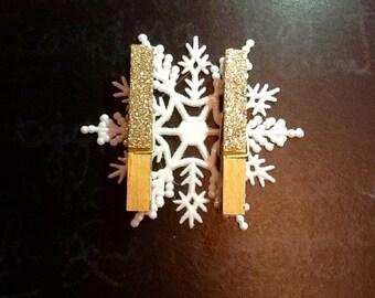 Golden Glittered Gift Tag