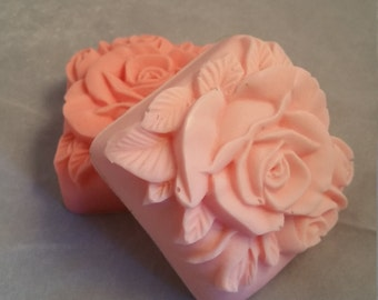 rose soap, rose shaped soap