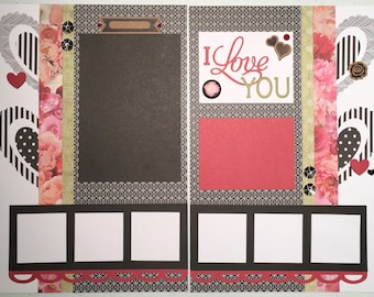 I Love You Large Scrapbook Layout