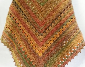Shawl, wrap.  Warm autumn winter shawl. Handmade crochet shawl,  crochet wrap.