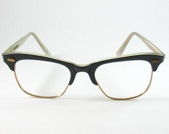 Vintage 50s Clubmaster Glasses Frames, Vintage NOI Sunglasses, Rockabilly 50s Style