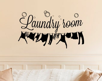 Laundry Room Wall Decal- Laundry Room Decal- Laundry Room Wall Decor- Laundry Sign Decal Vinyl Lettering- Laundry Vinyl Wall Art Decor 070