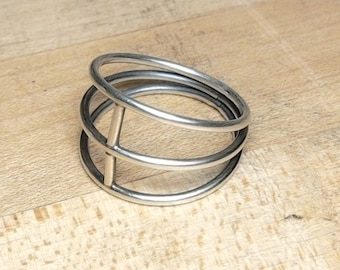Cage Ring - Sterling Silver