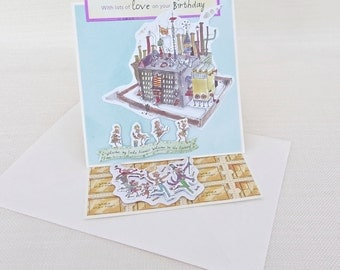 Charlie and the Chocolate Factory by Roald Dahl Birthday Card - Roald Dahl Greetings Card - Willy Wonka