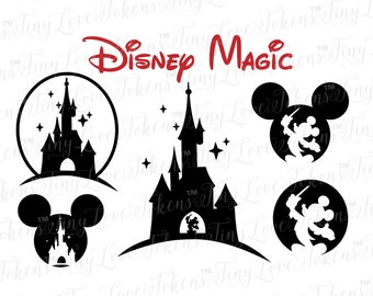 Disney Magic SVG Design for Silhouette and other craft cutters (.svg/.dxf/.eps/pdf)