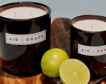 Gunpowder Flint, Lime & Sandalwood Soy Wax Candle