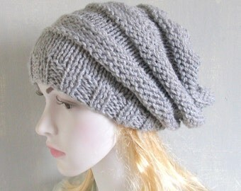 Womens Hat Slouchy Hat Slouchy Women Hat Slouch Beanie Cable Women Hat Oversized Hat Cable Hat Chunky Knit Hat Beanie Vegan Hat