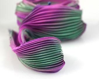 30cm Shibori Silk Ribbon Handmade Silk ribbon #30