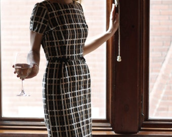 Plaid Mad Men Wiggle Pencil Dress