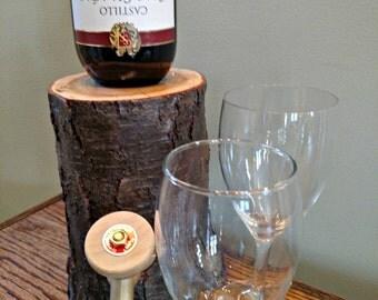 Log Wine Dispenser   New & Improved   -Patent Pending-