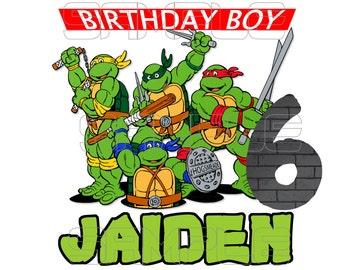 TMNT Teenage Mutant Ninja Turtles Iron On Transfer