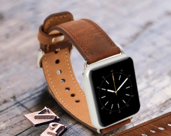 Mens Gift Watch Band Personalized Wedding gift for Mens Wearable Tech Groomsmen Gift Boyfriend Gift Leather Men Watch Band Apple Watch Strap