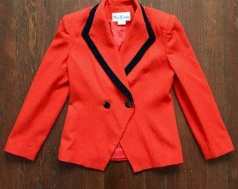 Orange Oleg Cassini Wool Blazer