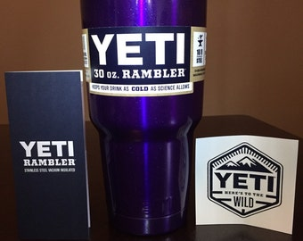 YETI Rambler 30oz Deep Translucent Purple