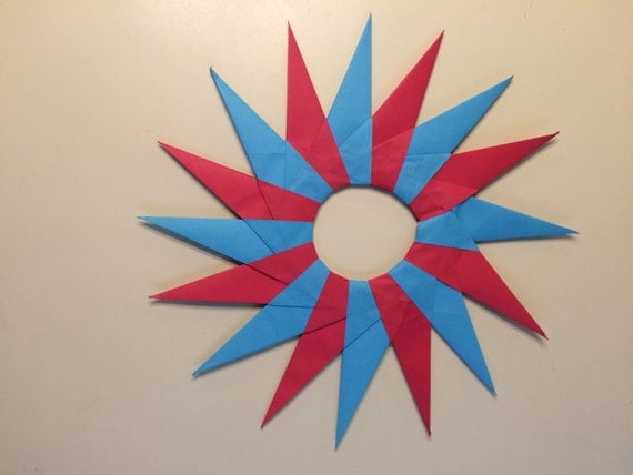 8 pointed ninja star instructions