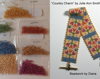 Country Charm by Julie Ann Smith Designs beaded bracelet kit (pattern sold separately)