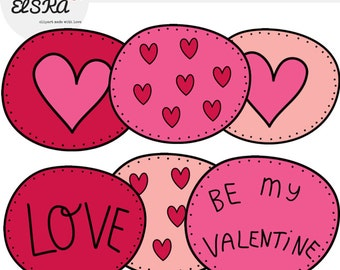 Valentine's Day Clipart (Black outlines)