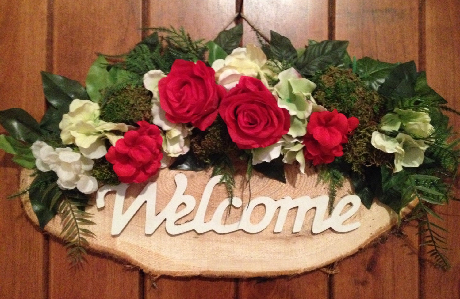 Welcome sign decorated with flowers door decor front door wreath welcome sign decorated with flowers door decor front door wreath door wreath wreath door swag indoor wreath outdoor wreath spring decor rubansaba