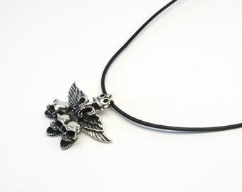 Skulls skull Phönix Lily jewelry pendant Silver 925