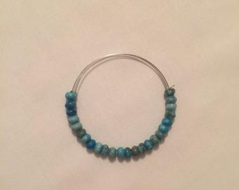 Turquoise Bead Memory Bracelet
