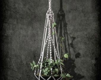cotton macrame plant hanger MODERN