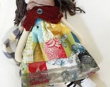 BoHo Chic Spring Rag/Cloth Doll! OOAK, Handmade, and Ready to Ship!