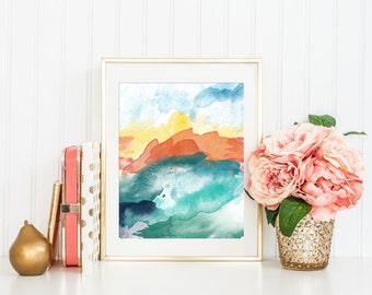 Abstract Modern Art Print, Printable Art Print, Modern Minimalist Art, Modern Art Abstract, Modern Nursery Art, Home Office Decor, 8x10, #3