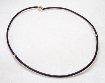 """20"""" Black Leather Necklace For European Charms and Beads"""