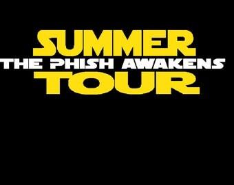 Phish Summer tour 2016:  The Phish Awakens (Men's and women's sizes), Star Wars Logo