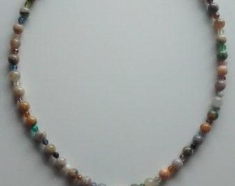 Necklace - Multi-Colored Stone
