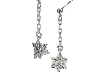 Snowflake Line Earrings